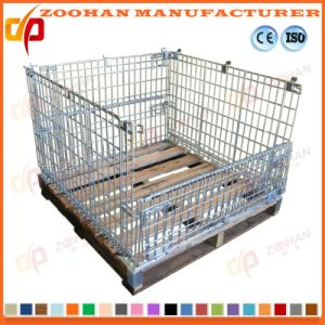 Stackable Steel Supermarket Warehouse Wire Mesh Storage Pallet Cage (Zhra17) pictures & photos