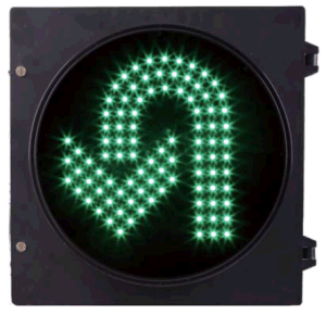 300mm Turn Round U Turn LED Traffic Signal Green Color pictures & photos