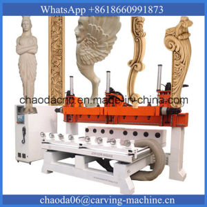 8 Axis Multi Heads 3D Wood Carving CNC Router (JCW1325R-8H) pictures & photos