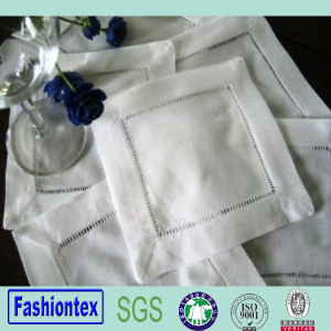 Restaurant Club Bar Wine Linen Napkin Hemstitch pictures & photos