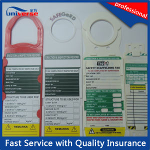 Plastic Scaffolding Safety Tag for Construction & Maintenance pictures & photos