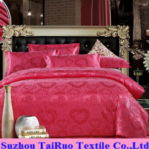 Embossed Silk Satin for Bedsheet Set pictures & photos