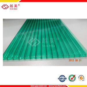 Guangzhou Yuemei 6mm Twin Wall Hollow Polycarbonate Panel for Greenhouse Roofing Sheet pictures & photos