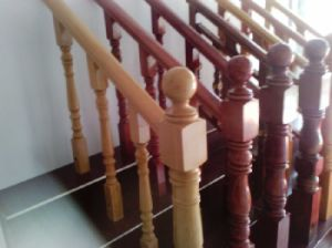 Cheap Standard Wooden Stairs Handrails pictures & photos