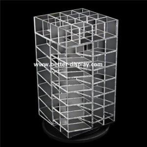 Custom Black Acrylic Rotating Nail Polish Display Cabinet pictures & photos