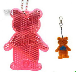 Reflective Key Chain with Bear Shape pictures & photos
