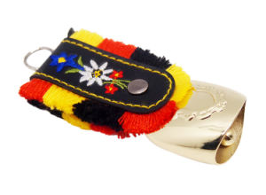 Fantasy Key Chains Swiss Cowbell for Tourist Promo Gifts pictures & photos