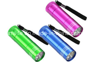 9LED Mini Flashlight with 3AAA Battery pictures & photos