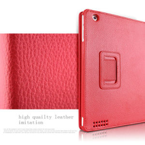 Lichee Pattern Leather Smart Tablet PC Case for iPad pictures & photos