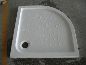 Quadrant Acrylic Shower Tray Plates with Fiberglass Resin Bottom pictures & photos