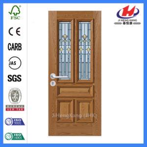 Room MDF Composite Wooden Glass Door (JHK-FD05) pictures & photos