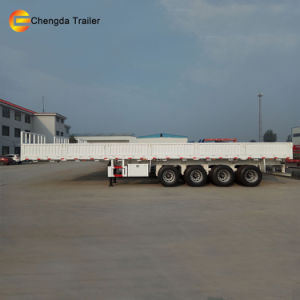 3 Axle Flat Deck Cargo Semi Trailer Sale in Africa pictures & photos