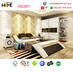 New Arrival Unique Design Modern Leather Bed for Bedroom Furniture (HC301) pictures & photos