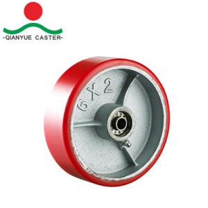 """4"""" 5"""" 6"""" 8"""" PU on Iron Rigid Heavy Duty Caster pictures & photos"""