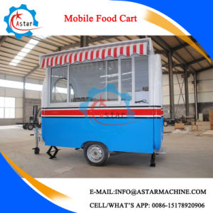 High Quality 4 Wheel Hot Dog Stainless Steel Food Cart pictures & photos
