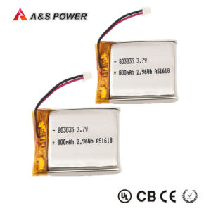 803035 Rechargeable 800mAh 3.7V Lithium Polymer Battery for Digital Products pictures & photos