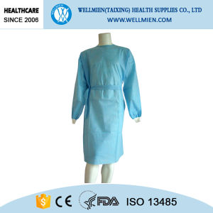 Nonwoven Disposable PP Sterile Isolation Gown/Hospital Surgical Gown pictures & photos