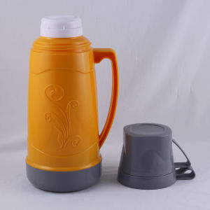 Cheap Price Outdoor Plastic Outer Glass Refill Vacuum Flask with Two Cup (FGAB) pictures & photos