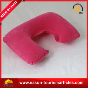 Cheap Non-Woven Airline Pillow Inflatable Neck Pillow Airplane pictures & photos