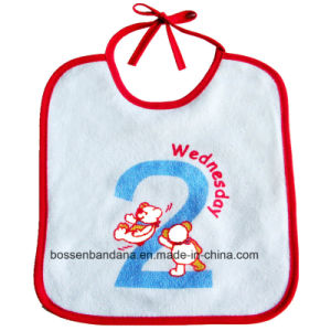 Factory Produce Customized Design Printed Cotton Terry Cloth Baby Bib pictures & photos