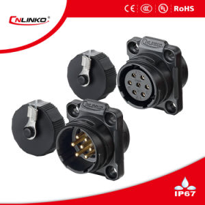 Cnlinko 5pin Circular Connector Plastic Plug and Panel Mount Socket pictures & photos