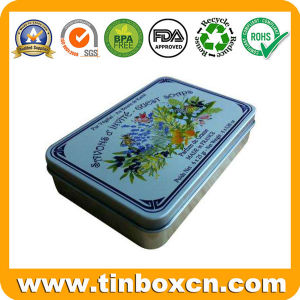 Cmyk Printing Oblong Soap Tin Classical for Cosmetic Packaging pictures & photos