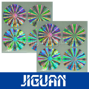 Transparent Holographic Paper Roll Anti-Counterfeiting Sticker pictures & photos