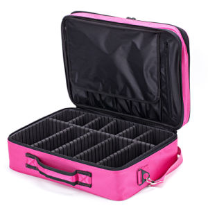 Portable Large Capacity Oxford Lady′s Cosmetic Bag for Travel pictures & photos
