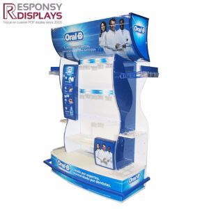 Pop Design Toothpaste Machinery Daily Necessities Acrylic Floor Display Stand pictures & photos