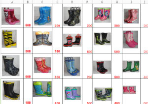 Lady and Man Rubber Rain Boots (FF29) pictures & photos