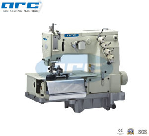 Double Needle Flat-Bed Making Beltloop with Front Fabric Cutter Sewing Machine (AC-2000C)