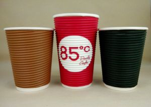 Disposable Twist Ripple Corrugated Paper Cups