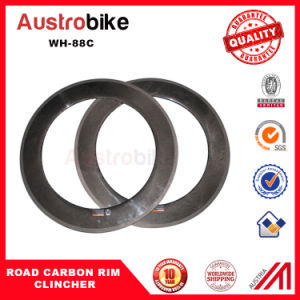 Carbon Fiber Road Bicycle Wheelset 88c 88c Road Clincher Wheelset