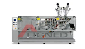 Horizontal Double Sachet Powder Packing Machine (DXDH-F180D) pictures & photos
