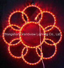 LED 2D Motif Rope Flower Lights pictures & photos