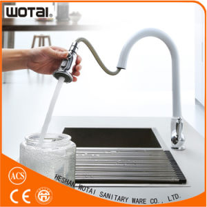 Kitchen Use White Kitchen Faucet with Zinc Alloy Single Handle pictures & photos