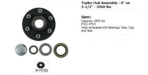 "Trailer Hub Assembly-6′′ on 5.5""-3500lbs pictures & photos"