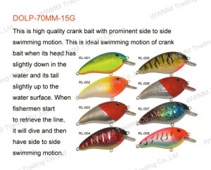 Fising Lure ,Fishing Tackle ,Plastic Lure--Classical Crank Bait (HRL032) pictures & photos