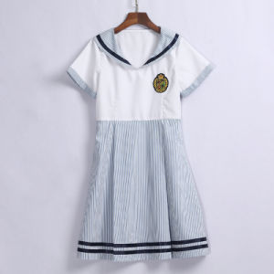 Short Sleeve Middle School Uniform Dress for Girls pictures & photos