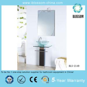 Freestanding Glass Top Bthroom Vanity (BLS-2149) pictures & photos