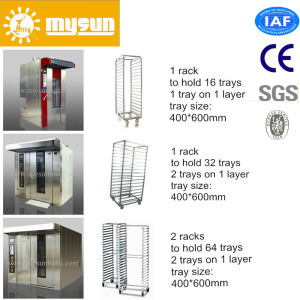 Mysun Stainless steel 304# Low Consumption Gas Bakery Rotary Rack Ovens with CE Ios pictures & photos
