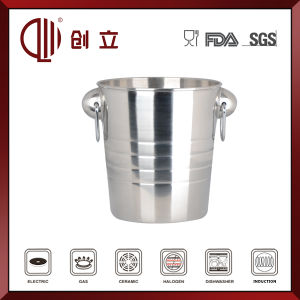 3.8L Stainless Steel Ice Bucket with Handles