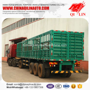 Multi Used Barrier Box Semi Trailer for Bulk Cargo Loading pictures & photos