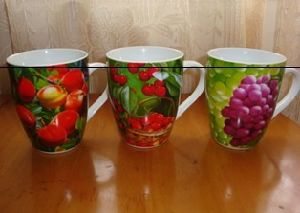Ceramic Mug with Fruits Decals pictures & photos