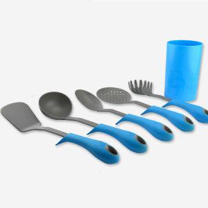 2014 Eco-Friendly Heat Resistant Colorful Nylon Kitchen Cook Tools Spaghetti Soup Spoon Kitchen Utensil Set
