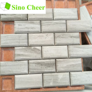 Brick Grey Wooden Marble Mosaic Tile pictures & photos