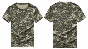 Outdoor Short Sleeves Breathable Wear-Resisting Commandos Slim Camouflage T Shirt pictures & photos