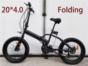 Custom Design Fat Tire 20 Inch Folding Electric Bike pictures & photos