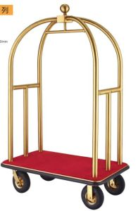 Luxury Brushed Brass Bellman Trolley (DF52) pictures & photos