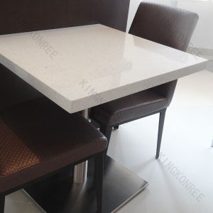 China prefab artificial quartz stone top dining table for Quartz top dining table